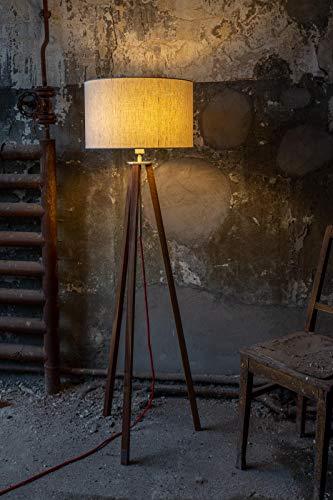 WDM Design,Stehlampe,Leuchte,Innenbeleuchtung, Schlafzimmer,Lampenschirm,Handgefertigte Leuchte,Holz Gestell,Dreibein Lampe