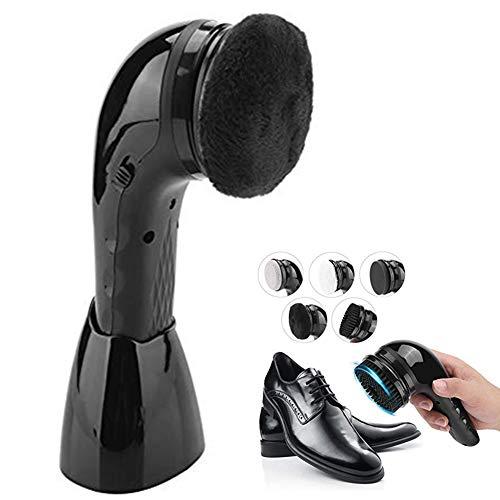 Jadpes Handheld USB Electric Shoe Brush,Multifunktionaler wiederaufladbare Multifunktions-Leder-Schuhputzmaschine Schuh-Polierer, wiederaufladbar, mit Bürstenaufsatz, Tragbar, für Leder-Pflege