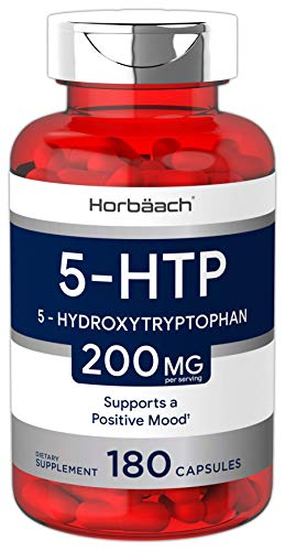 Horbaach 5-HTP 200mg | 180 Capsules | 5HTP Extra Strength Supplement | Non-GMO, Gluten Free | 5 Hydroxytryptophan