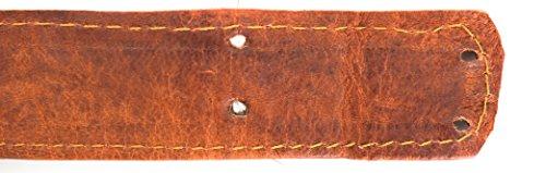 41XzflvNJvL - Gusti Leder nature Correa de Cuero Tira de Cuero Repuesto para Bandolera Bricolaje Manualidades Piel de Cabra Auténtica…