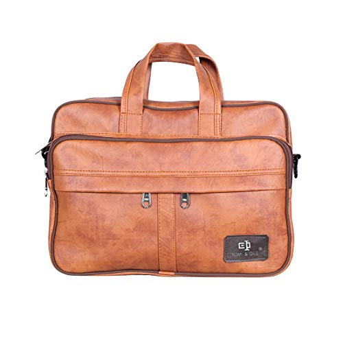 Tom & Gee Leather Messenger Bags - Brown Pack of 1 Bags (Tan)