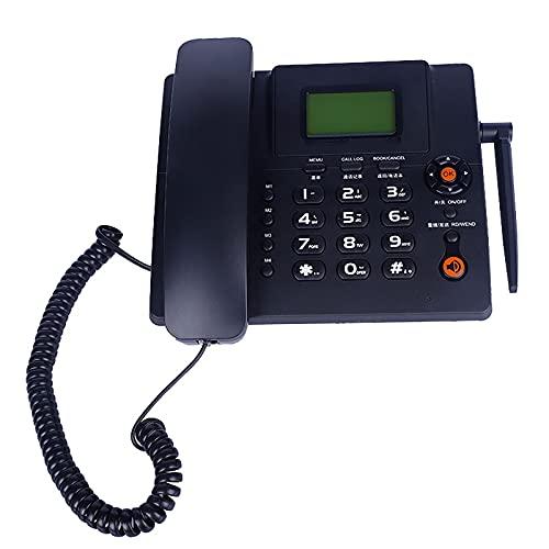 JXCAA Teléfono Residencial De Oficina De Línea Fija Inalámbrica - Teléfono De Escritorio con Ranura para Tarjeta SIM Teléfono Fijo con Cable para El Hogar/Hotel/Oficina