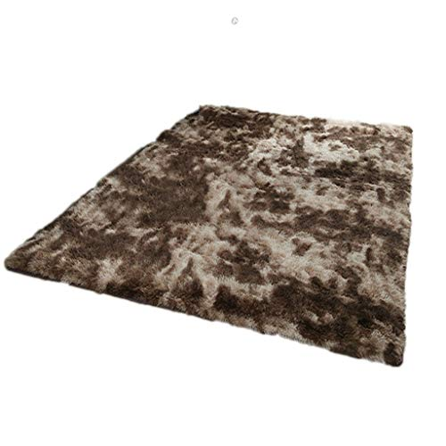 Read About Fluffy Rug,for Living Room Bedroom Easy Care Area Rugs Home Decorate (Color : Brown, Size...