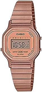 ساعة كاسيو يوث عتيق، رقمية، مينا ذهبي وردي، سوار من الستانلس ستيل المطلي بالذهبي الوردي - LA-11WR-5ADF