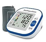 Pressure Monitor,HOMIEE Upper Arm Digital Blood Pressure Machine-Backlight 3.4 inch LCD Display,22-36CM Wide Cuff,198 Memories for 2 Users