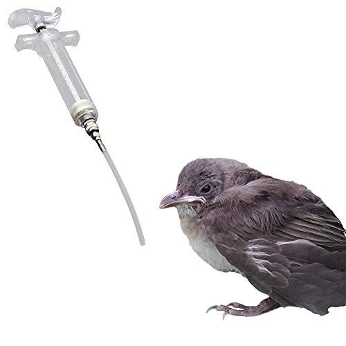 Tpmall Spritze Mit Schlauch Spritze Haustier Spritze Kunststoffspritze mit Schlauch Vogelbabyspritze Fütterungsspritzen Für Tiere Vogelfütterung 50ml,3mm*10cm Tube