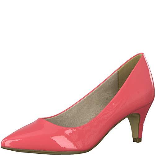 Tamaris Damen Pumps 22495-34, Frauen KlassischePumps, Court-Shoes Absatzschuhe Abendschuhe stöckelschuhe Damen Lady,Coral PATENT,38 EU / 5 UK