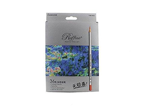 BabyIn colured Crayons pour les peintures pour enfants Secret Garden Art Aupplies Dessin Artisanat, Adulte Coloration Books (36-Paper Boxed)