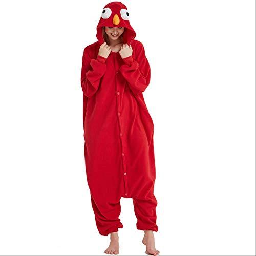 AYJMA Onesie de Dibujos Animados Kigurumi para Adultos Pijamas de Monstruo Mujeres Hombres Elmo Cosplay Halloween Custome XXL Rojo Onesie