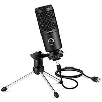 BeeFly USB Microphone Microphone for Computer Metal Condenser Recording Microphone for PS4 Mac Windows Computer Desktop Microphone for Gaming Podcast Streaming YouTube Chatting