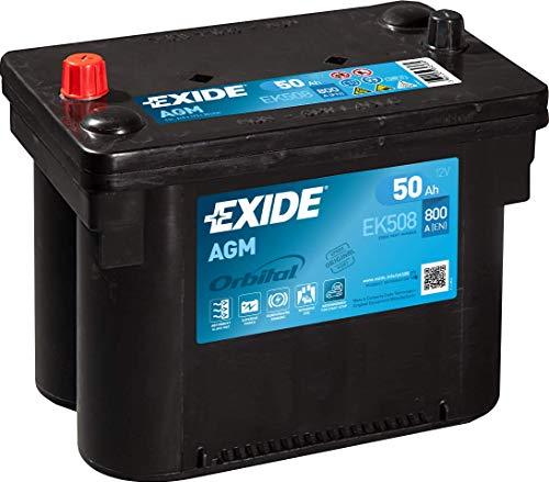 EXIDE EK508 Start-Stop AGM 12V 50AH 800A, Schwarz