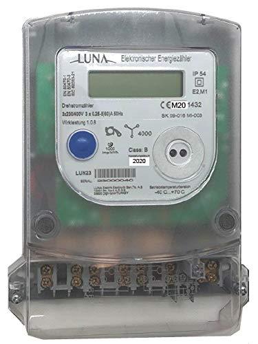 Drehstromzähler für die Zählerkreuzmontage LUN23 5(60) Amp. Lieferung und Bezug (A+/A-) MID2020-2028