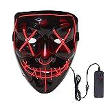 DFQ Halloween LED Masks, Light up Mask Cosplay, LED Purge Mask Light Up