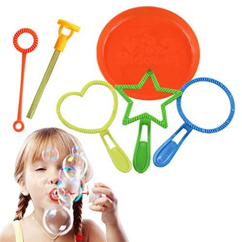 6 PC / juego burbuja color al azar Niños herramienta Varita Bubble Maker Concentrado Palo soplador exterior Burbuja que sopla divertida herramienta Juguetes regalos burbuja herramienta que sopla