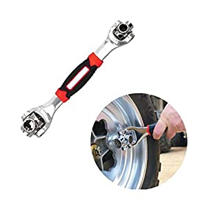 OurLeeme El zócalo de herramientas de 360 grados de la llave de Tigre 48 en 1 funciona con pernos estriados Torx para la reparación universal de automóviles