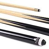 Powerglide Original Queue de snooker classique mixte Noir 122 cm