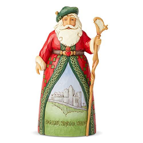 Enesco Jim Shore Heartwood Creek Santa's Around The World Irish Figurine, 7.1 Inch, Multicolor