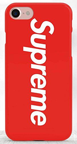 Coque iPhone 7+ Plus Supreme Jordan Air Rouge Logo Plastique rigide Rouge et Blanc