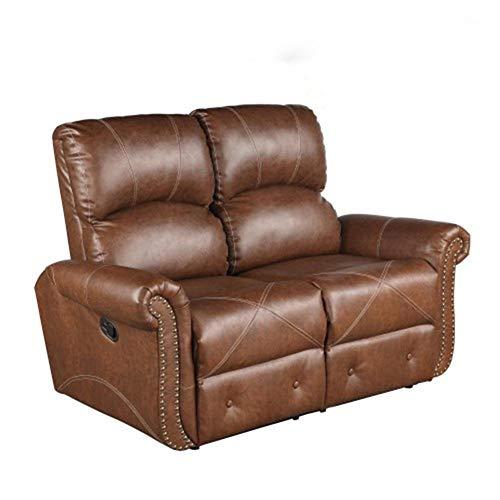 LXH-SH Muebles Loveseat reclinable de Cuero de la PU Sala de Estar Sofá reclinable Loveseat Deslizante Silla Productos domésticos