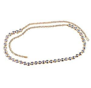 Single Kundan Line Stone Small Designer Kamarband/Bellychain/kamarpatta/ottiyanam/vaddanam/Waist Hip Belt -White