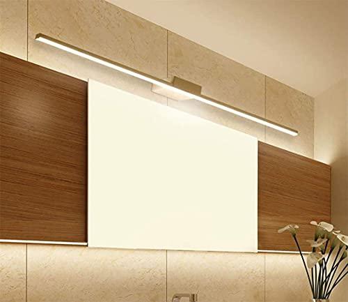 Luz de espejo para cuarto de baño LED espejo gabinete luz de pared de baño luz de maquillaje IP44 impermeable sin parpadeo espejo luz delantera para hotel restaurante, luz cálida (8 W/40 cm)