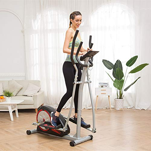 Fast Portable Elliptical Machine Fitness Workout Cardio Training Machine, Magnetic Control Mute Elliptical Trainer with LCD Monitor,Top Levels Elliptical Machine Trainer (Black)