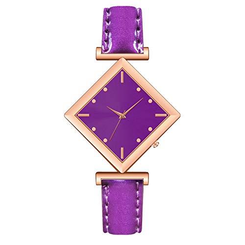 AxiBa Relógios Femininos Casuais Luxuosos Pulseira de Couro Analógico Moda Feminina, B
