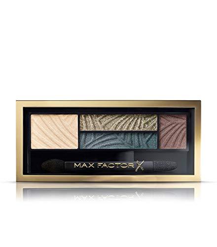 Max Factor Smokey Eye Drama Kit Magnetic Jades 05 – Lidschatten-Palette mit 4 neutralen und grünen Tönen mit mattem und schimmerndem Finish – Schmeichelt blauen Augen