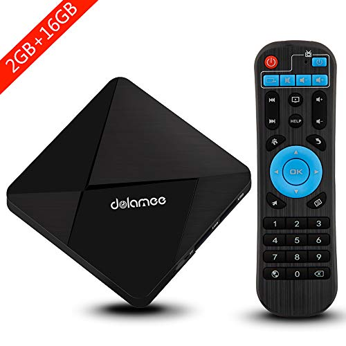 Android TV Box, Dolamee D5 Android 7.1 TV Box Amlogic S905 Quad-core 64 Bits Processor 2GB RAM 16GB...