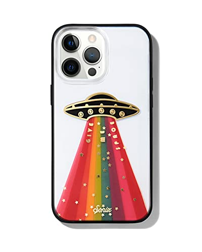 Sonix Give Me Space Case for iPhone 13 Pro Max [10ft Drop Tested] Protective Rainbow UFO Spaceship Clear Cover for Apple iPhone 13Pro Max