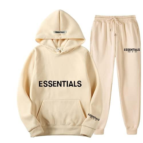 Fear of God Essentials Hoodie and Sweatpants Hip Hop Trendy Essential...