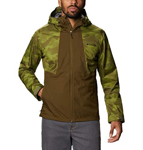 Columbia Chaqueta impermeable para hombre, Inner Limits II, Hombre, Chaqueta Inner Limits II, 1893991, New Olive, Matcha Spotted Camo, XL