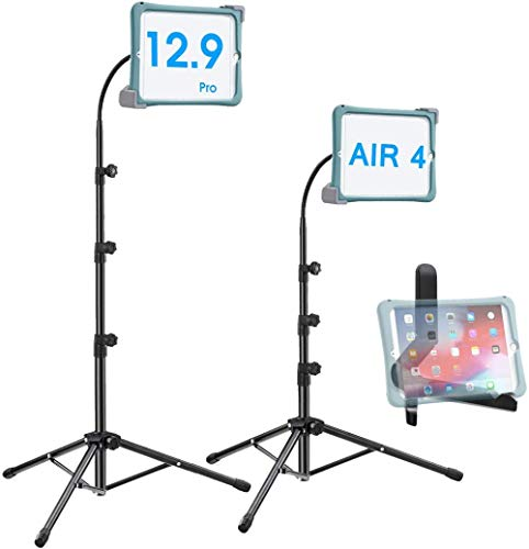 Mazu Homee Ipad tripod stand, 20-67 inches high tablet adjustable floor stand, 9.5-14.5 tablet / iPad tripod gooseneck 10.2-12.9 inch iPad Pro / iPad 6/7 / Air 3 and more tablet tripods