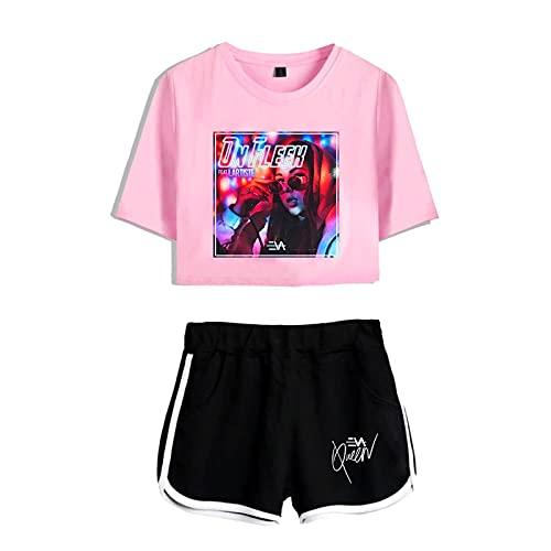 CCEE Cantante Eva Queen Impresión 2D Mujeres Conjunto De Dos Piezas Shorts + Bonita Camiseta Gran Oferta De Ropa
