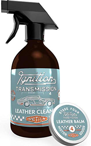 Ignition transmission car leather cleaning kit leather cleaner and conditioner balm for car seats and upholstery 500ml and 50g