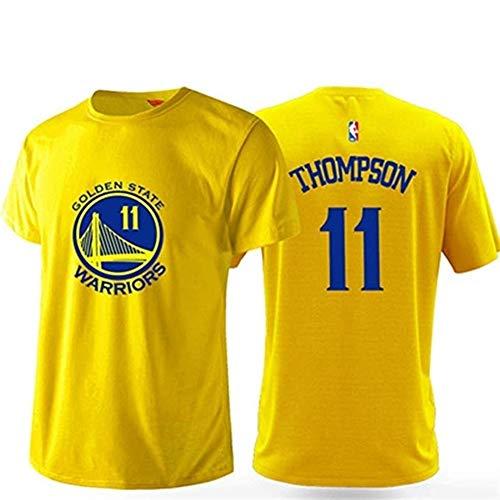 Camiseta de entrenamiento ASSD NBA para hombre, manga corta, cuello redondo, edición urbana, transpirable, color amarillo, talla S-5XL (color: amarillo #1, tamaño: XXXL)