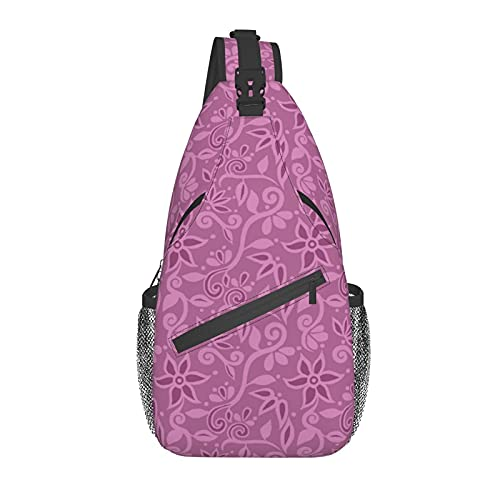 AOOEDM Rapunzel Floral Sling Bag Crossbody Mochila Casual Daypack para senderismo al aire libre