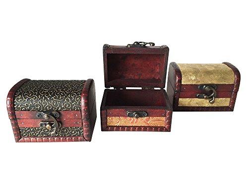 EAST-WEST Trading GmbH Schatztruhe, 3er Set, Schmuckkästchen, Piratenschatztruhen, auch für Geldgeschenke und als Geschenkverpackung - 5