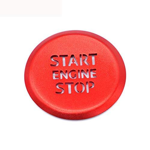 MYlnb Accesorios de Coche Interior del Motor botón de Arranque y Parada Anillo translúcido decoración de la Cubierta de la Caja, para Audi A3 8l 8p 8V A4 B6 B8 B9 A5 A6