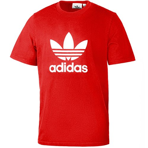Adidas Mens Trefoil T Shirt Scarlet Small