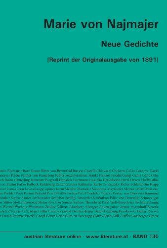 Neue Gedichte: [Reprint der Originalausgabe von 1891]