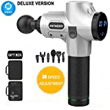 SWTMERRY- Massage Gun Deep Tissue Percussion Muscle Massager 30 Speed, Glide, Brushless, Handheld Cordless, 6 Head for Athletes, Pain Relief, Muscle Relaxation Plasticity, Bulk Muscle Groups