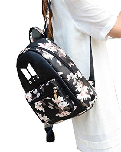 LIOMENLA Reiserucksack BTS Damen Daypack Druck Schulrucksack Lässige Backpacks Beliebte Rucksäcke für Wandern/Camping/ Outdoor Sport Schultaschen