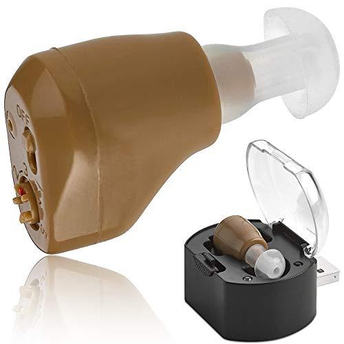 Mini amplificador auditivo NewEar recargable. Tan pequeño que no se ve