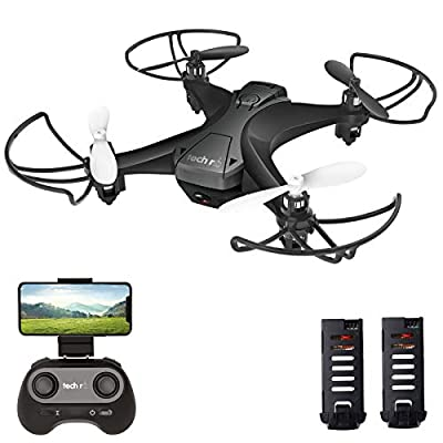 tech rc Mini Drone Camera FPV Live Video 6-Axis Gyro Quadcopter, One Key Takeoff and Landing, Headless Mode, Altitude Hold, App Control Available Toy Drone for Kids and Beginners
