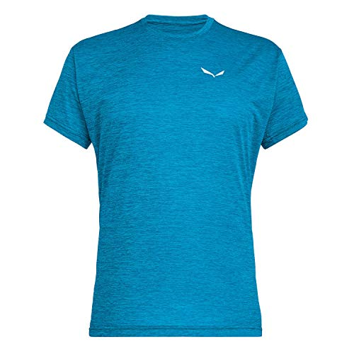Salewa Puez Melange Dry M S/S koszulka męska niebieski Blue Danube Melange L