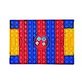 NAUXIU 5 Piezas 4 Dados,2 Coloridos,2 Blancos,1 Tablero de Ajedrez,Big Pop It Fidget Toy,Juguete Fidget de Gran Tamaño,Tablero de Ajedrez Arcoíris,Juguetes Fidget (Fútbol Rojo)