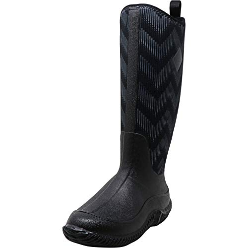 Muck Boot Women's Hale Multi-Season, Black/Black Chevron, 7