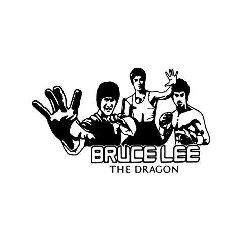 ZZFGXX Pegatinas De Pared,Artes Marciales Chinas Bruce Lee Personaje Etiqueta De La Pared 43x72cm Adecuado Para Pegatinas De Pared De DecoracióN Del Hogar De Dormitorio Y Sala De Estar