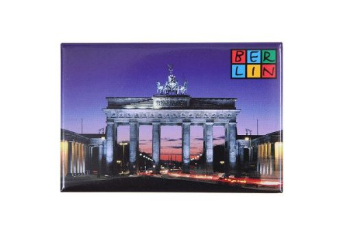 City Souvenir Shop Magnet Brandenburger Tor mit Berlin-Logo